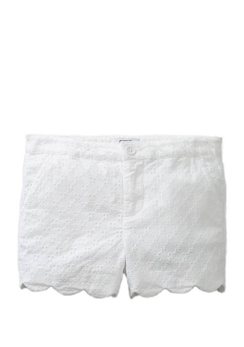 Crown & Ivy™ Girls 4-6x Scallop Shorts