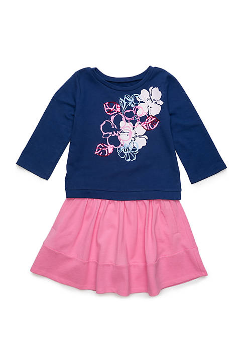 Crown & Ivy™ Girls 4-10 Long Sleeve Top