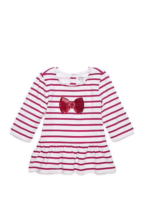 Crown & Ivy™ Girls 4-6x Long Sleeve Bow