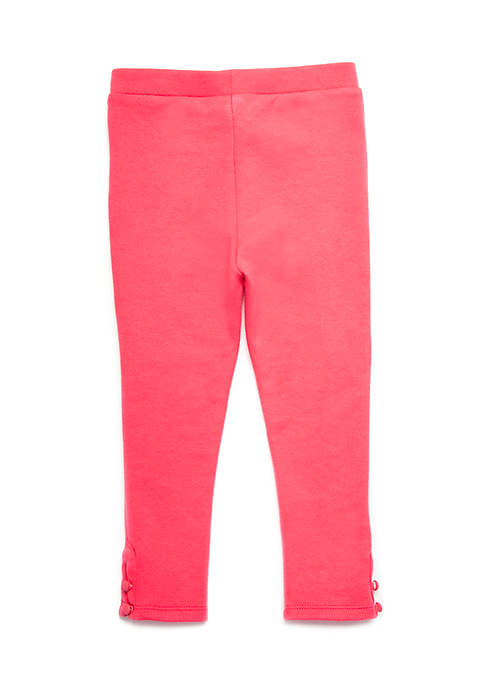 Crown & Ivy™ Girls 4-8 Button Hem Leggings