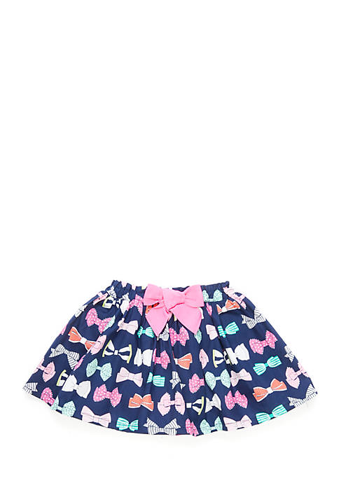 Crown & Ivy™ Toddler Girls Woven Bow Skirt