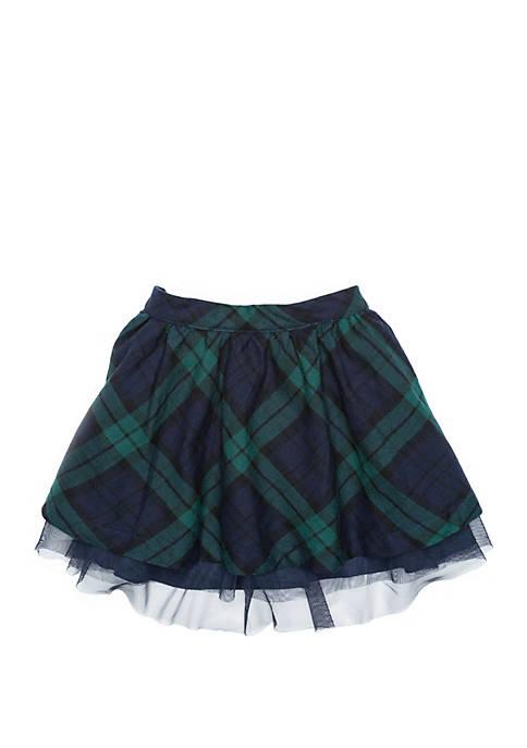 Crown & Ivy™ Girls 4-8 Woven Tulle Skirt