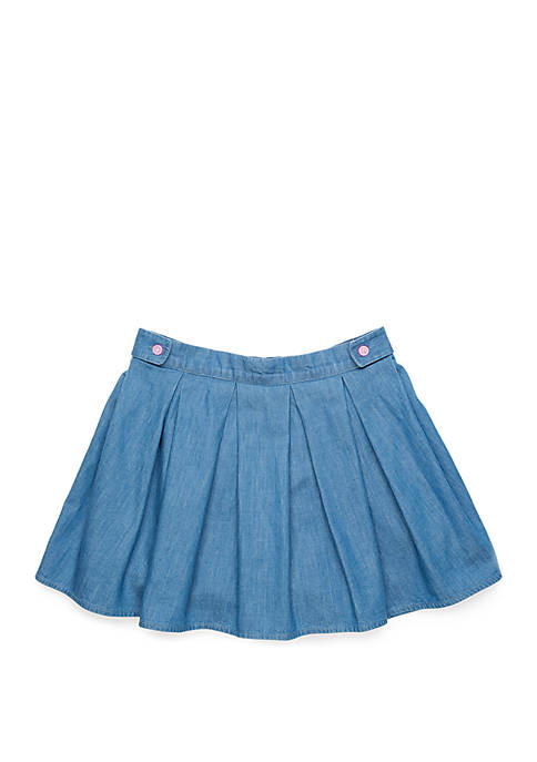 Crown & Ivy™ Girls 4-10 Pleated Woven Skirt