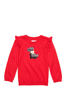 Crown & Ivy™ Girls 4-8 Flutter Sleeve Sweater