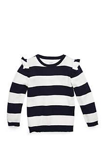 Girls 4-8 Flutter Sleeve Sweater