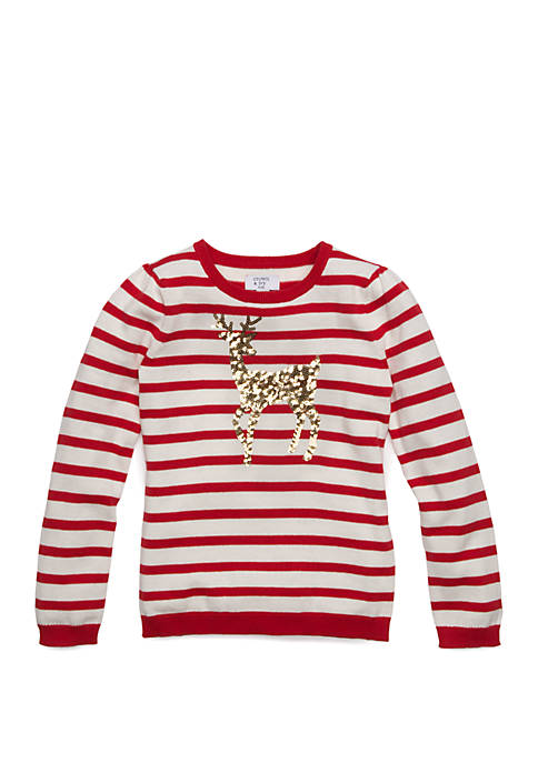 Crown & Ivy™ Girls 4-6x Basic Pullover Sweater
