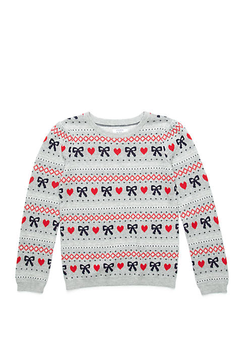 Crown & Ivy™ Girls 4-6x Pullover Sweater