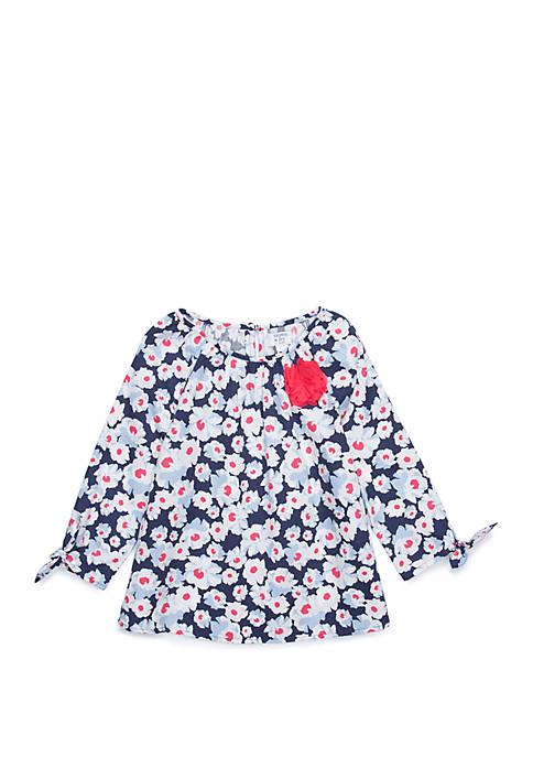 Crown & Ivy™ Girls 4-6x Tie Sleeve Top
