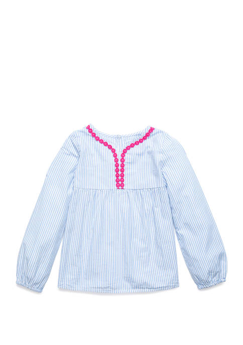 Crown & Ivy™ Girls 4-6x Y Neck Woven