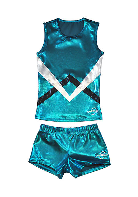 Obersee Girls Cheer Dance Tank and Shorts Set