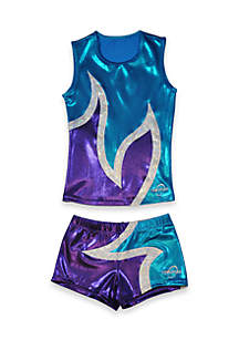 Obersee Cheer Dance Tank and Shorts Set Girls