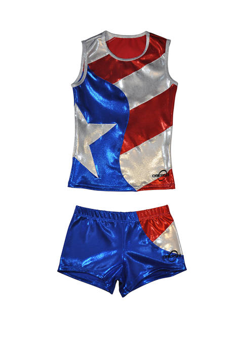 Cheer Dance Tank and Shorts Set Girls 4-6x