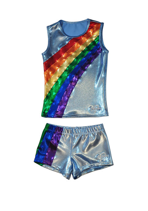 Cheer Dance Tank and Shorts Set Girls 4-6x