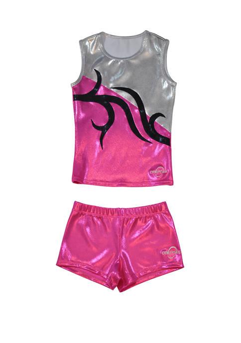 Cheer Dance Tank and Shorts Set Girls