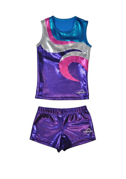 Obersee Cheer Dance Tank and Shorts Set Girls