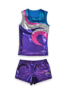 Cheer Dance Tank and Shorts Set Girls
