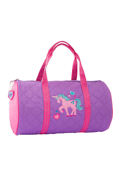 Girls Quilted Unicorn Duffle