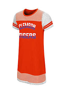 Girls Clemson Don't Be Talkin Mesh Dress