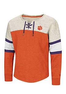Girls 7-16 Clemson Tigers Icebox Oversized Laced Pullover