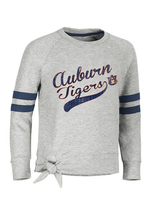 Girls 7-16  NCAA Auburn Tigers Side Tie Graphic T-Shirt