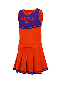 Colosseum Athletics Girls 7-16 Clemson Tigers Cheer Set