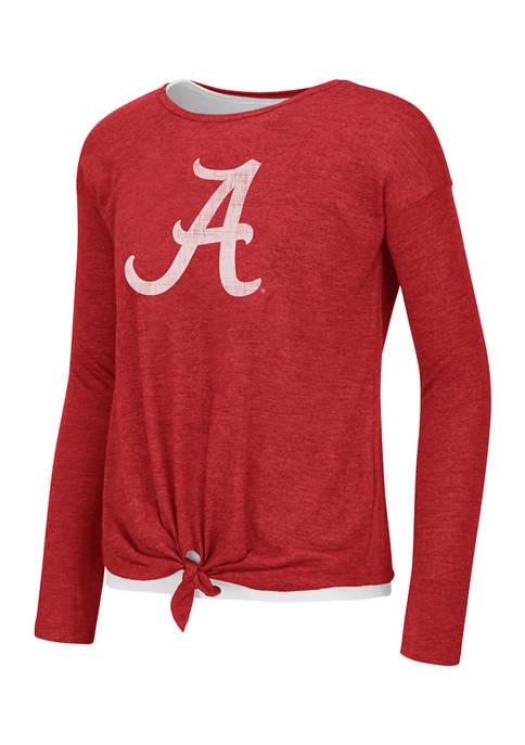 Girls 7-16 NCAA Alabama Crimson Tide Long Sleeve Top