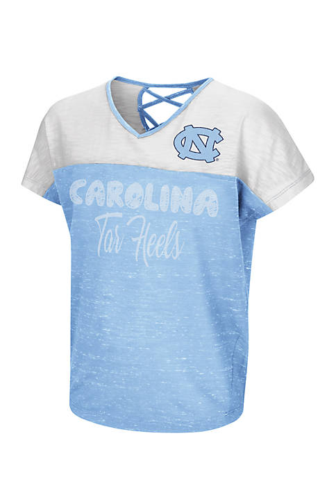 Colosseum Athletics Girls North Carolina Tar Heels Short