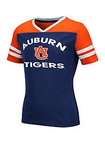 Colosseum Athletics Girls 7-16 Auburn Tigers Short Sleeve T Shirt