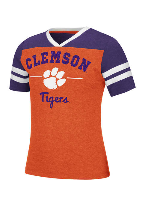 Colosseum Athletics Girls 7-16 NCAA Clemson Tigers Pearl