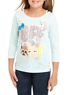 Nickelodeon™ Jojo Siwa Girls 7-16 Jojo 3/4 Sleeve BFF T-Shirt