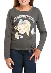 Nickelodeon™ Jojo Siwa Girls 7-16 Jojo Long Sleeve Peace Out T-Shirt