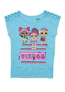 Happy Threads Girls 7-16 LOL Sleeveless Fierce T-Shirt