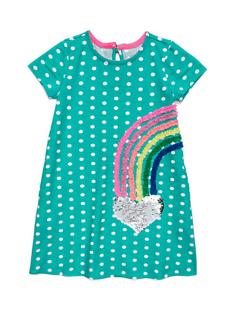 Lightning Bug Girls 4-8 Short Sleeve Sheath Dress