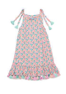 d7e60383c022 Lightning Bug Girls 4-8 Tassel Hem Dress ...