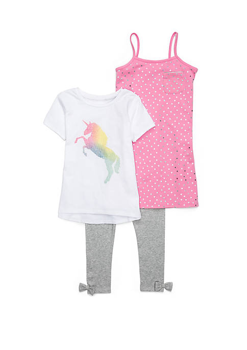 Lightning Bug Girls 4-10 Cami Dress Set