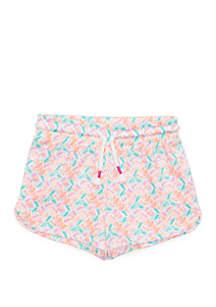 Lightning Bug Girls 4-8 Printed Shorts