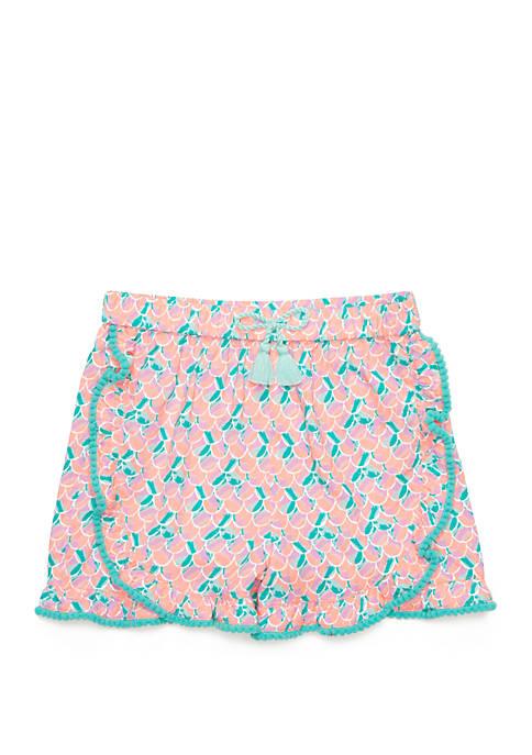 Lightning Bug Girls 4-8 Printed Ruffle Shorts