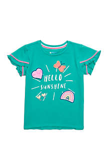 Lightning Bug Girls 4-8 Ruffle Sleeve Tee