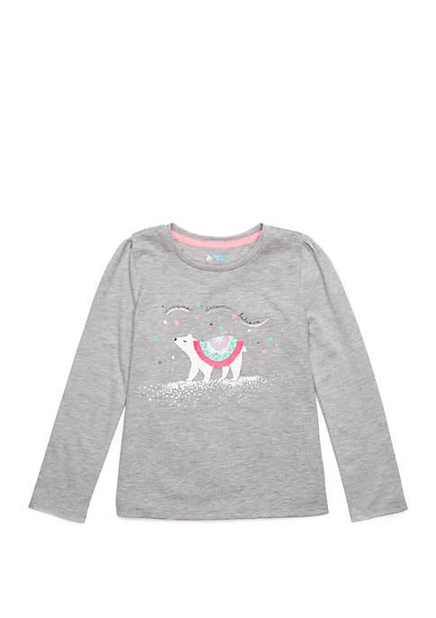 Lightning Bug Girls 4-8 Long Sleeve T-Shirt