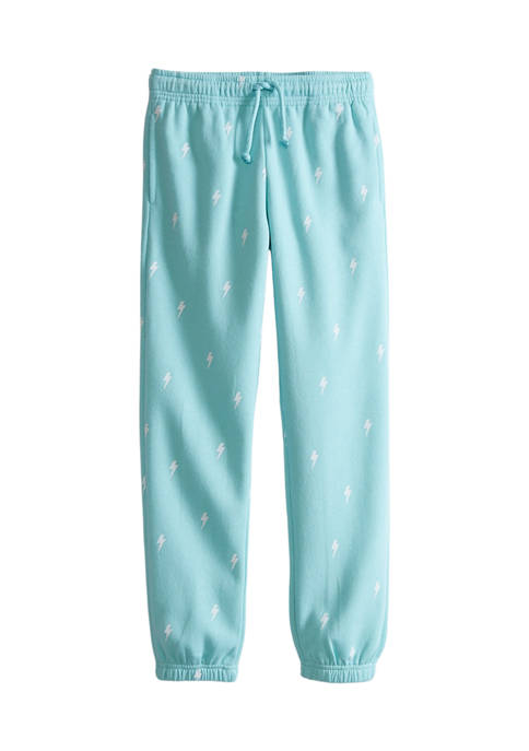 Girls 7-16 High Waisted Printed Joggers