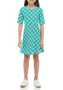 Crown & Ivy™ Girls 7-16 Knit Skater Dress