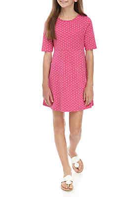 167ccfc5a1d4 Crown & Ivy™ Girls 7-16 Knit Skater Dress ...