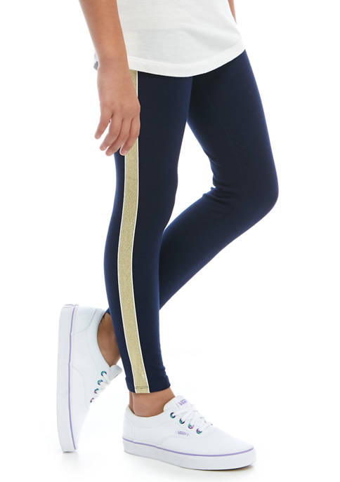 Crown & Ivy™ Girls 7-16 Sparkle Tape Leggings