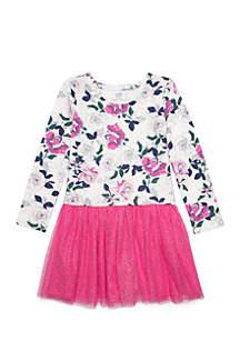 Girls 4-8 Knit Tulle Dress