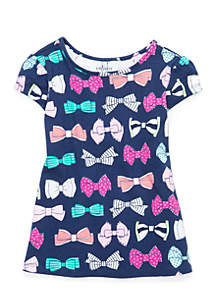 Toddler Girls Bow Back Swing Top