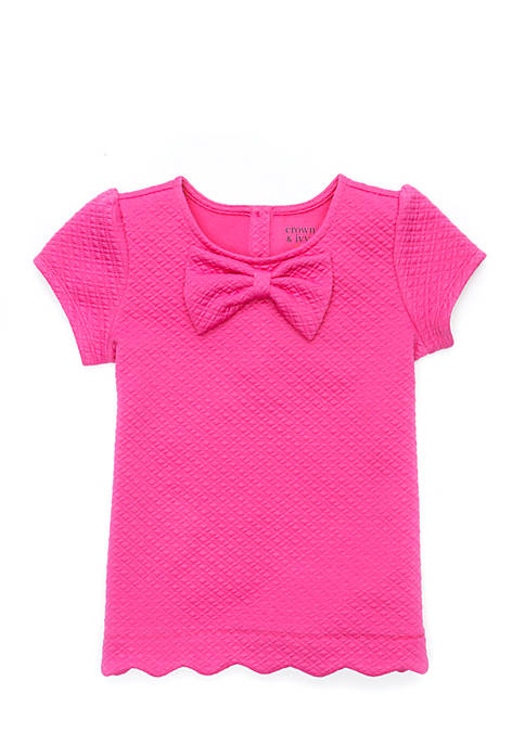 Crown & Ivy™ Girls 4-6x Scallop Top