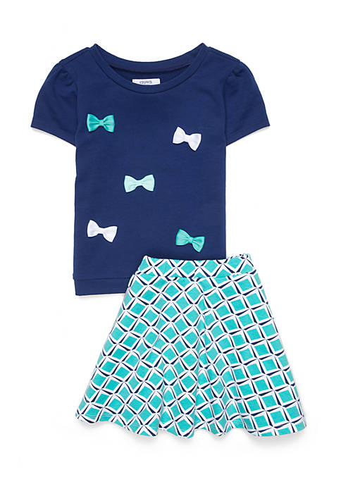 Crown & Ivy™ Girls 4-8 2-Piece Skirt Set