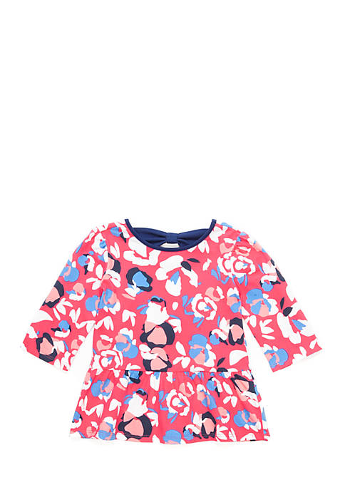 Crown & Ivy™ Girls 4-8 Three-Quarter Sleeve Bow