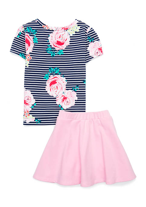 Crown & Ivy™ Toddler Girls 4-6x 2-Piece Skirt