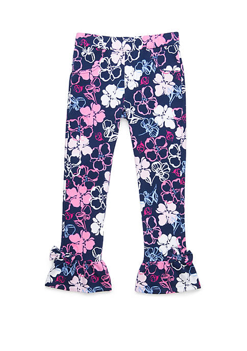 Girls 4-6x Ruffle Ponte Pants